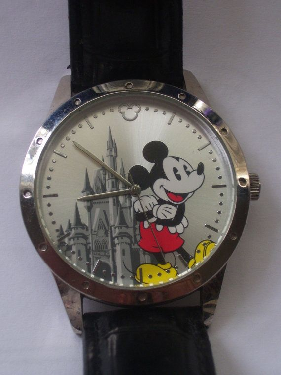 mens disney mickey mouse watch by TOYSUPPLIES on Etsy, $15.00