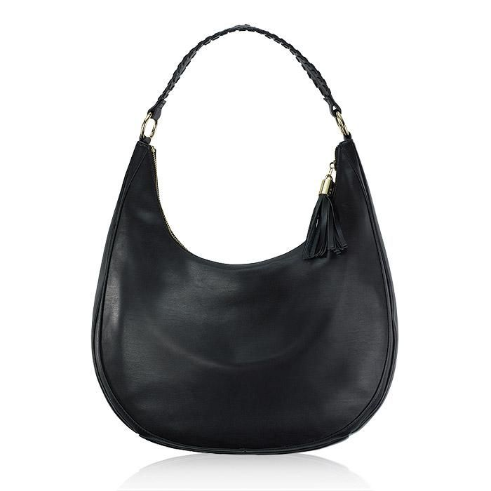 8f8af6569 Leather hobo. Keep it classic with the black, leather hobo bag that's ideal  for
