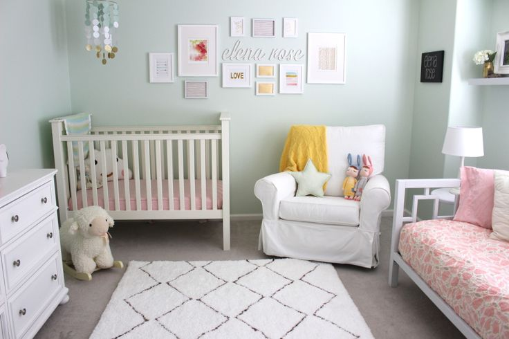 Mint and Pink Baby Girl Nursery