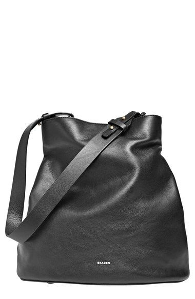 Skagen 'Amberline' Leather Bucket Bag available at #Nordstrom