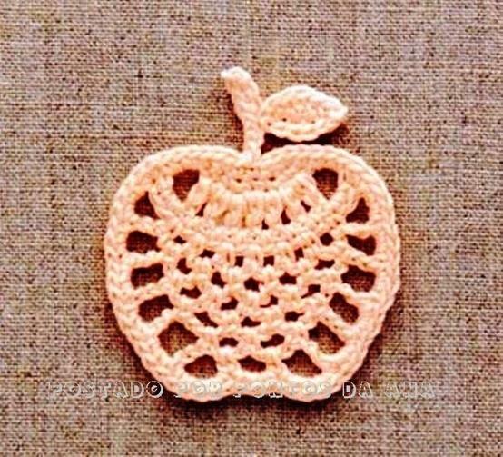 Receitas de Crochet: Maçã de crochet