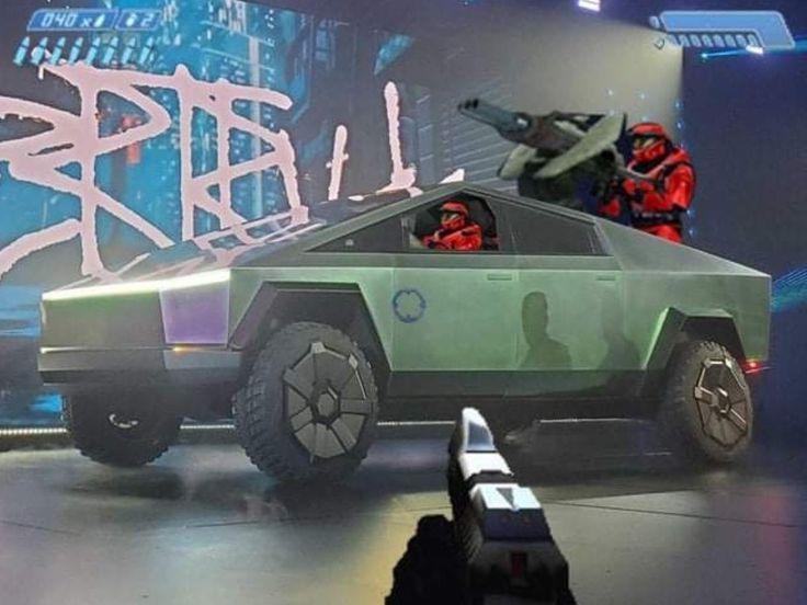 Tesla's Cybertruck looks somewhat familiar 🤔 elonmusk