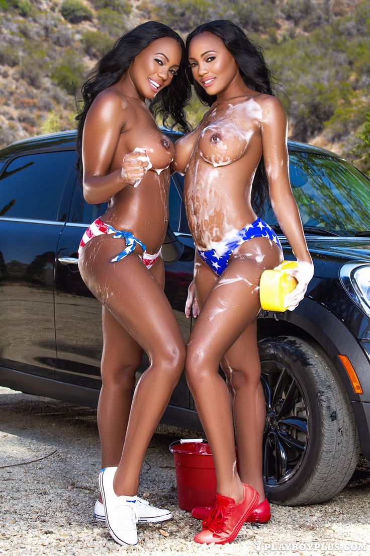 Hot busty car wash girls