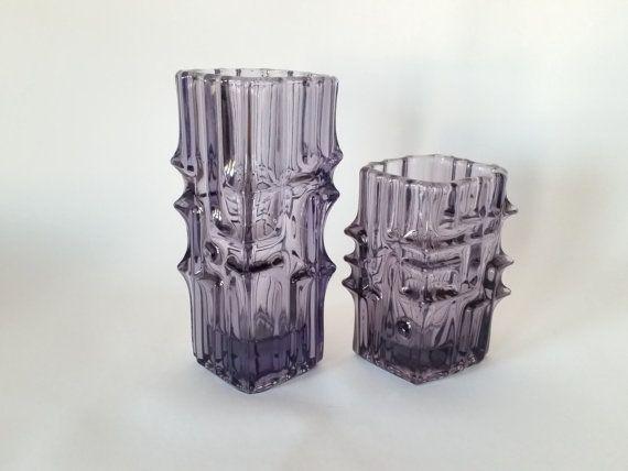 20th Century purple large amethyst vase by scandinavianseance