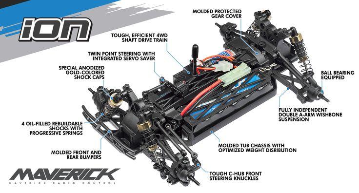 Maverick ION DT 1:18 RTR Elektrisk Desert Truck - Fjernstyret Bil