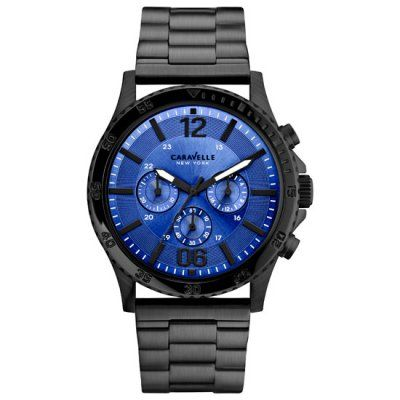 Caravelle New York - Men\'s Logan Black Chronograph Watch - 45A106 - RRP: £129.00 - Online Price: £109.00