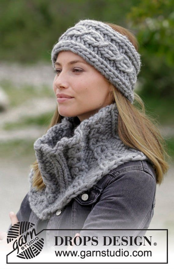 Knit Chunky braided headband  earwarmer , Pure Wool Knitted Headbands Head Wrap, Chunky braided Wool   – Products
