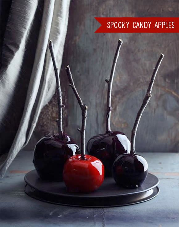 Easy Kids Halloween Recipe - Spooky Candy Apples With Sticks