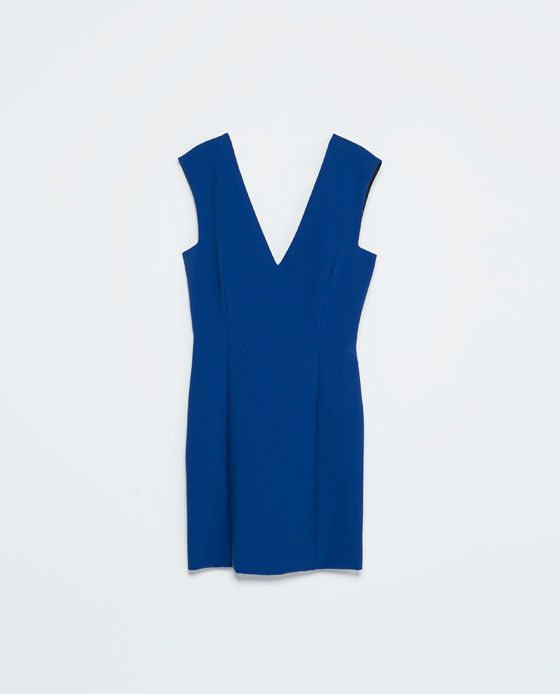 Image 7 of TIGHT FIT V-NECK DRESS from Zara