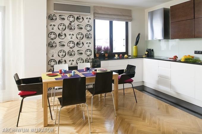 Tapety: czarno biała tapeta. ZDJĘCIA prawdziwych wnętrz