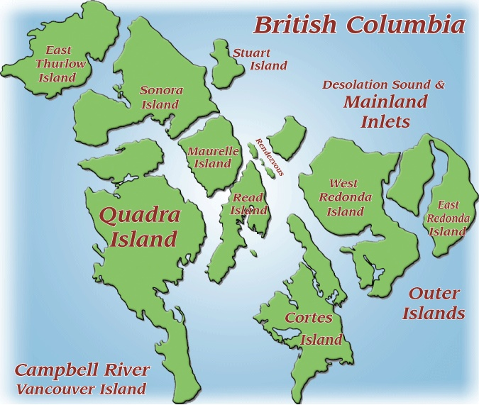 Discovery Islands, Quadra Island, Cortes Island, Outer Discovery Islands, British Columbia, Canada