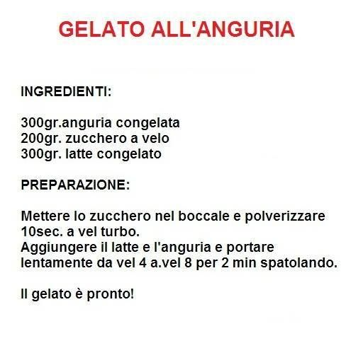 gelato all'anguria