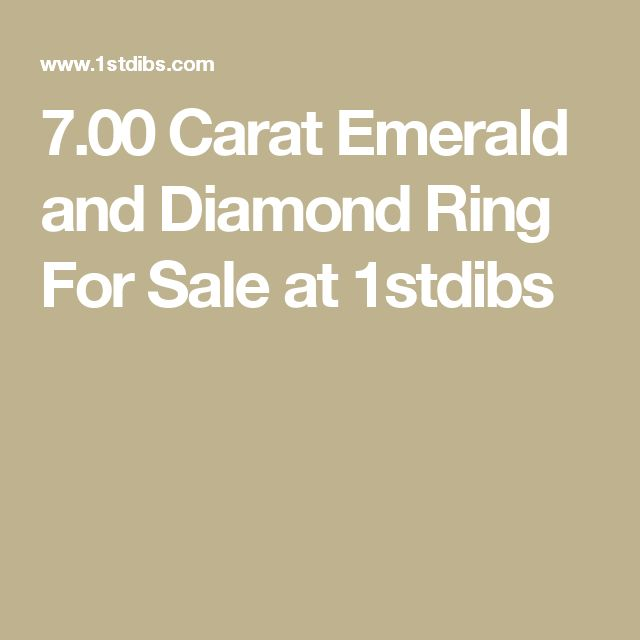 7.00 Carat Emerald and Diamond Ring For Sale at 1stdibs