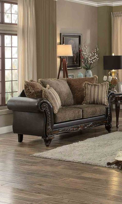 Homelegance Thibodaux Loveseat in Brown - 8233TT-2 *also available
