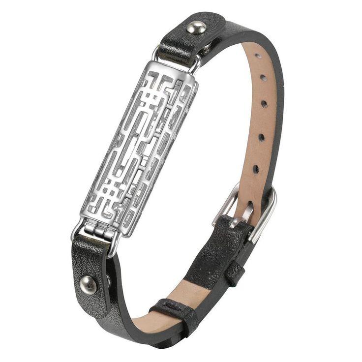 Fitbit Flex 2 Bracelet Bangle Leather Wristband Single Wrap Black+Silver Sleeve | Sporting Goods, Fitness, Running & Yoga, Fitness Technology | eBay!