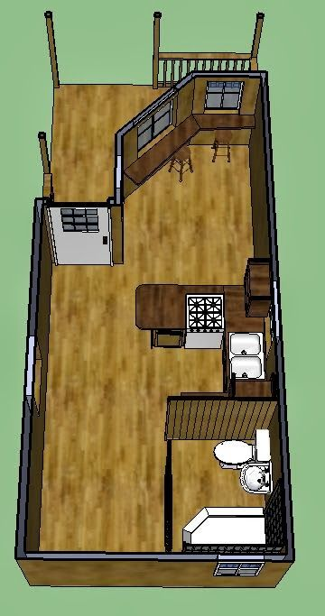 1000 images about home tiny house on pinterest for Lofted cabin plans