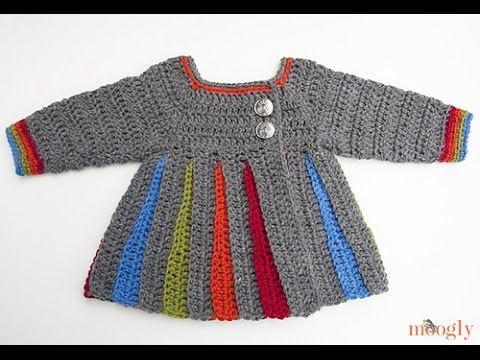 For the full pattern and other techniques referenced in this video, please go to http://www.mooglyblog.com/eloise-baby-sweater-tutorial/