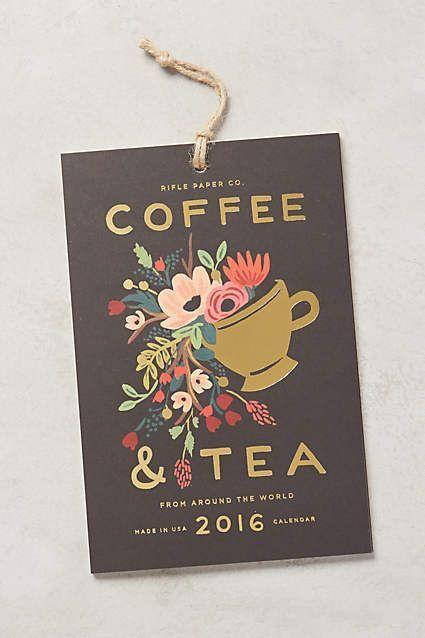 Coffee & Tea 2016 Calendar - anthropologie.com