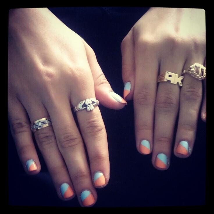 My current nails - essie + china glaze.