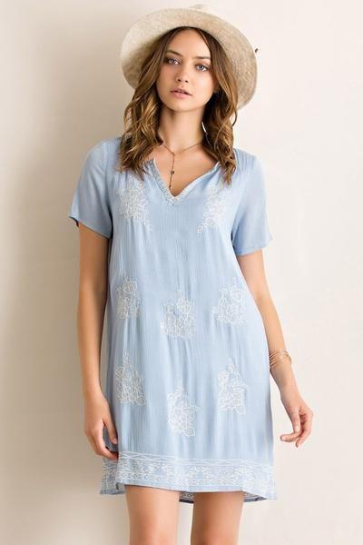 Gypsy Soul Dress (Lt Blue)