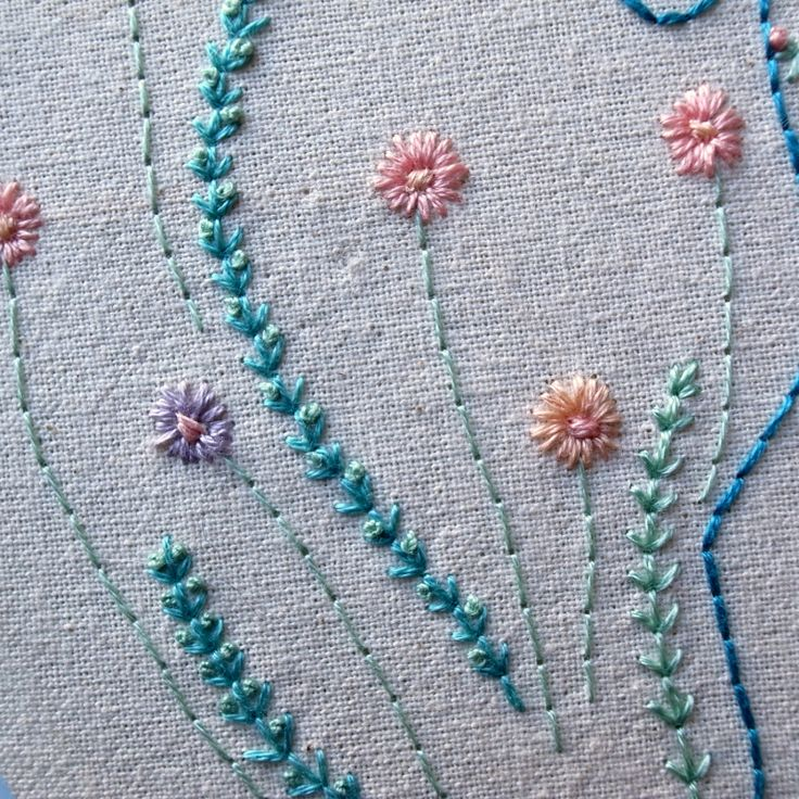 Flowers and ferns simple tutorial