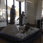 The penguin's at Canstruction 2012 to benefit local food pantries...
