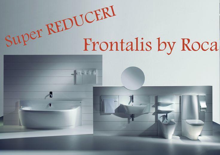 Reducere pentru produsele din seria Frontalis de la Roca incepand cu 57%. Seria Frontalis este proiectata de Belén și Rafael Moneo si are forme ce se inspiră din natură si care sugerează apa in miscare. Curbele in cascadă sunt în ton cu pereții si se completeaza reciproc, oferind un sistem modular cu soluții si forme interesante. Liniile ondulate ale produselor se imbina armonios cu peretii, obtinandu-se un sistem modular perfect integrat in spatiul dumneavoastra de baie.