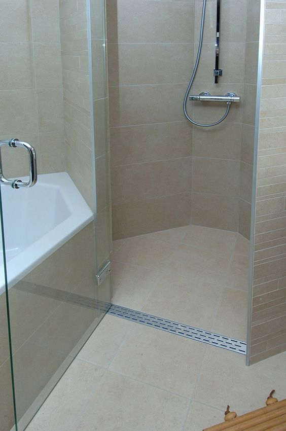75 best Curbless showers with linear drains images on Pinterest - ideen für badezimmer fliesen