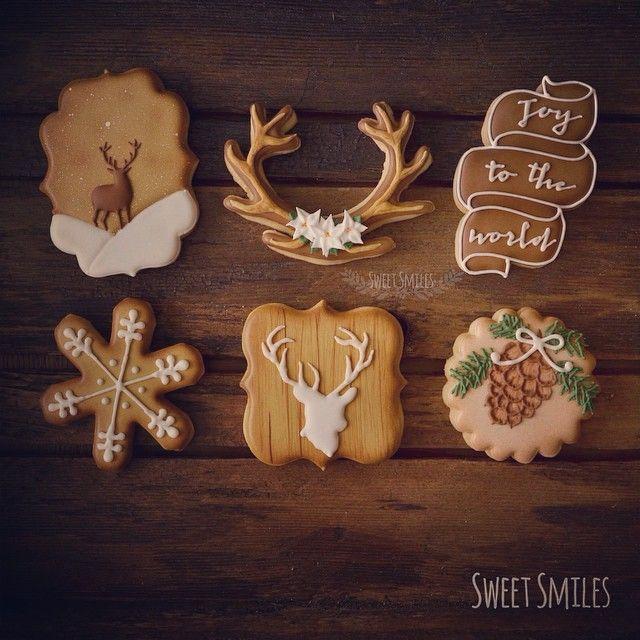 Christmas at the Cabin Cookies: Deer, antlers, pine cones...
