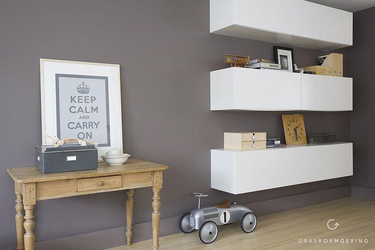 IKEA Hackers: Kitchen unit goes stylish livingroom storage/shelving unit