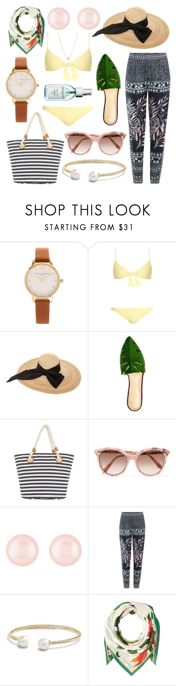 """""""Tropical Vacation"""" by reesepelletier ❤ liked on Polyvore featuring Olivia Burton, Melissa Odabash, Kreisi Couture, Charlotte Olympia, Victoria Beckham, Henri Bendel, Diane Von Furstenberg, David Yurman, Vince Camuto and ZoÃ« Chicco"""