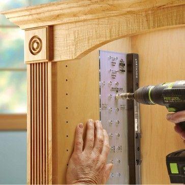 JIG IT® Shelving Jig-JIG IT® Shelving Jig Set (Template & Self-Centering Bit) - Rockler Woodworking Tools