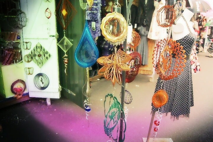 Boutique stalls and alluring ornaments