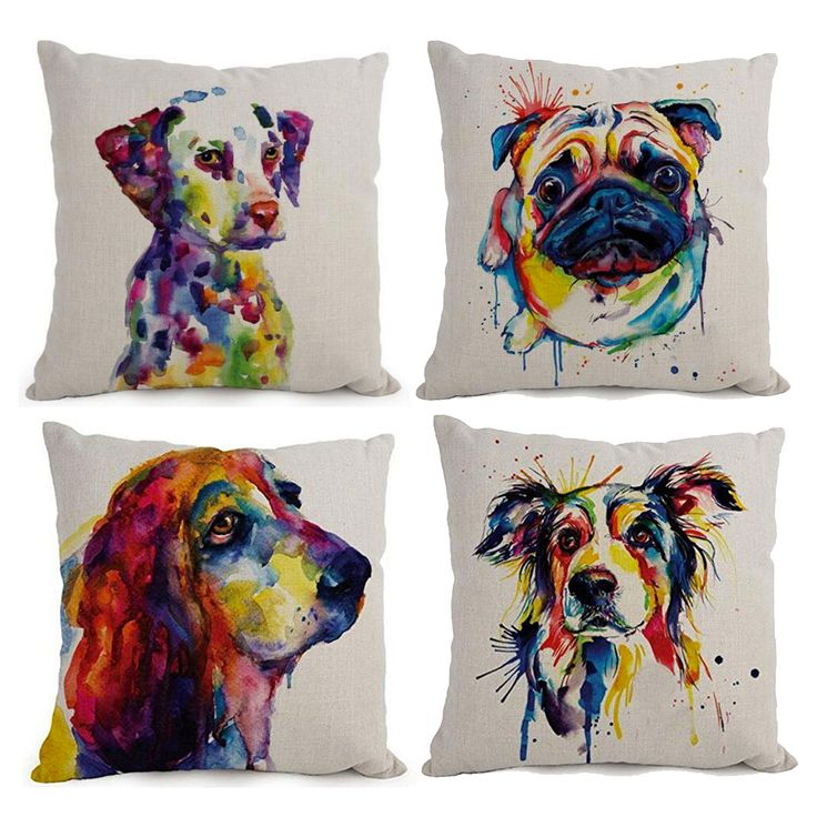 Abstract Oil Painting Dog Pillow Covers Visit our website now!