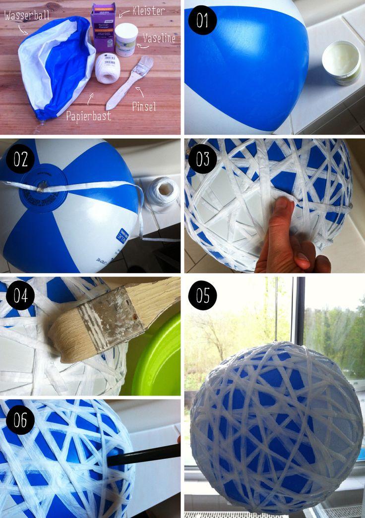DIY Bast Faden Schnur Lampe