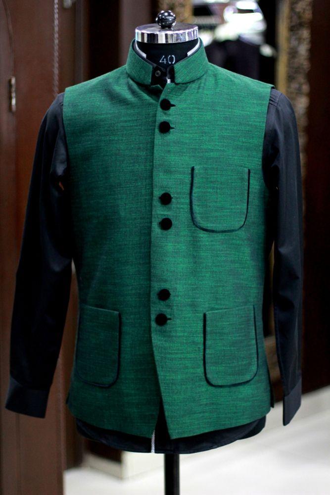 Ethnic Royal Green Jacket