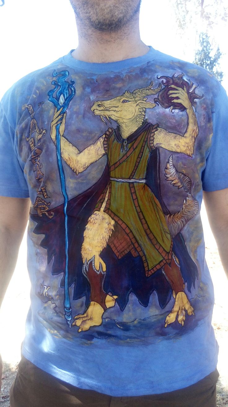 Val'drathar : Dungeon 'n' Dragon Character's Drawing, on shirt.