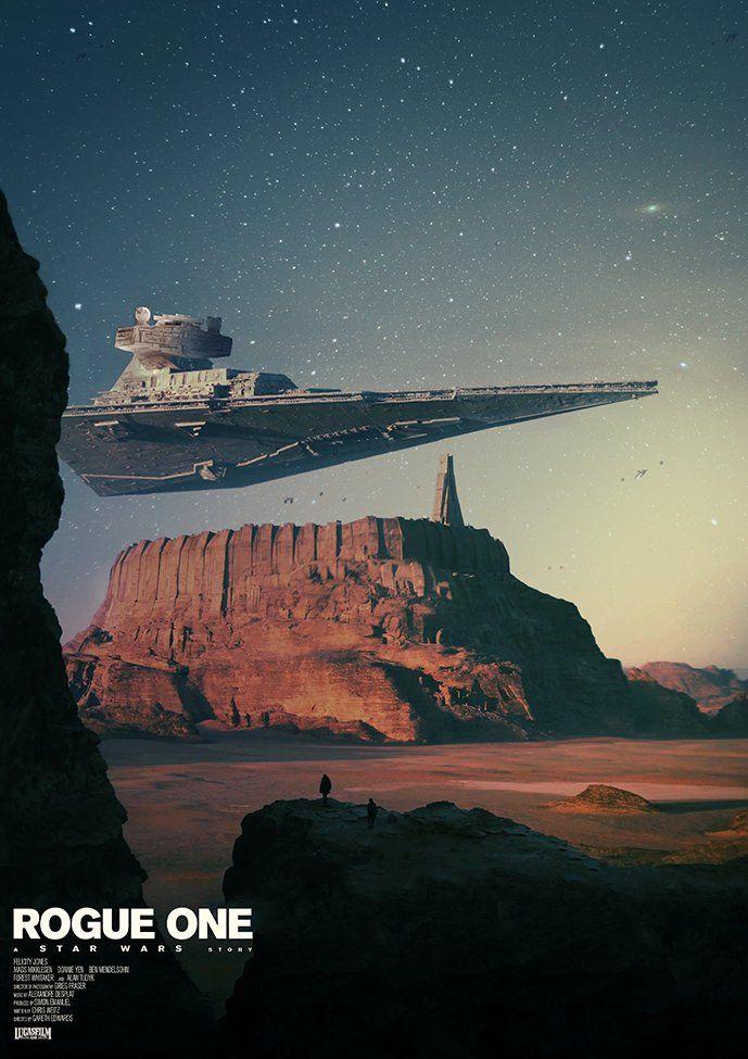 MessyPandas fan art poster for Star Wars: Rogue One