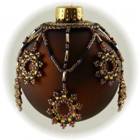Honey Blossom Ornament Cover Pattern - Bead Patterns by Michelle Skobel