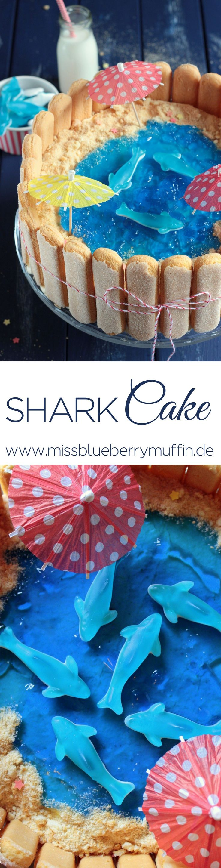 Sommerliche Hai-Torte // Strand Torte // Shark Cake // Beach Cake <3