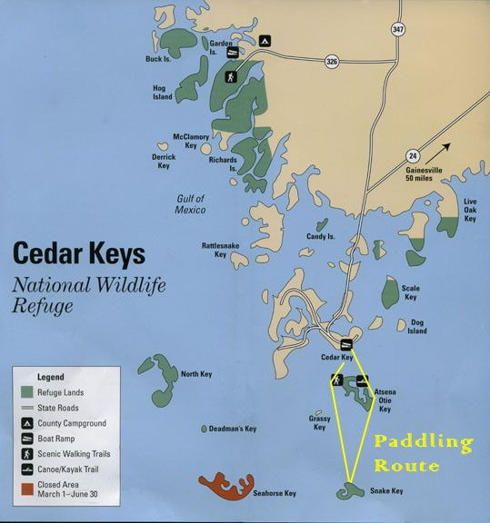 KayakGuide.com - Cedar Key to Snake Key, Florida USA