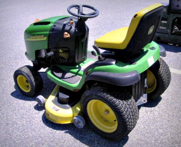 John Deere L120 Riding Lawn Mower on GovLiquidation. Perfect for your backyard!