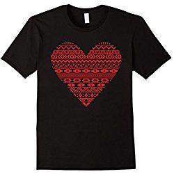 Men's Red Heart Cool Valentine's Day T-Shirt 2XL Black