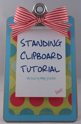 standing clipboard tutorial, well, that looks easy! #diy #craft #home #decor