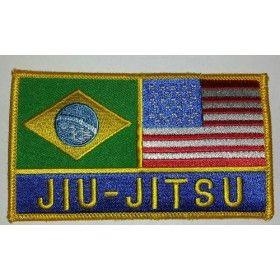 Jiu-jitsu Brazil & US Flag Patch