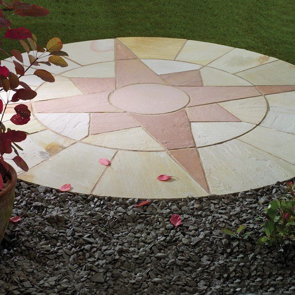 Star Circle Natural Stone Patio Paving Kit 2.4m | Stone Patios, Natural  Stones And Patios