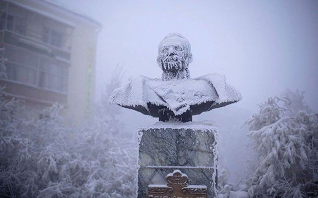 Statue of Ivan Kraft, a former governor of Yakutia   www.godsfolder.com #GodsFolder