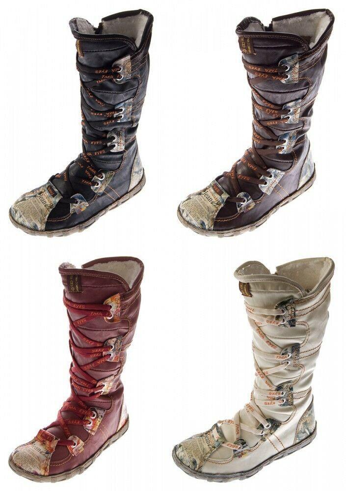 Details zu Elegante Damen Stiefel Warm Gefütterte Winter Boots Schuhe 98232 Gr. 35 41