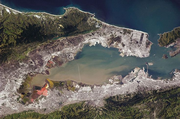 Much of the densely built-up waterfront around San Francisco sits on landfill, often a blend of rubble and sediment dragged up from the bay.