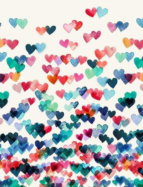 Conexiones del corazón - pintura de acuarela de Lámina
